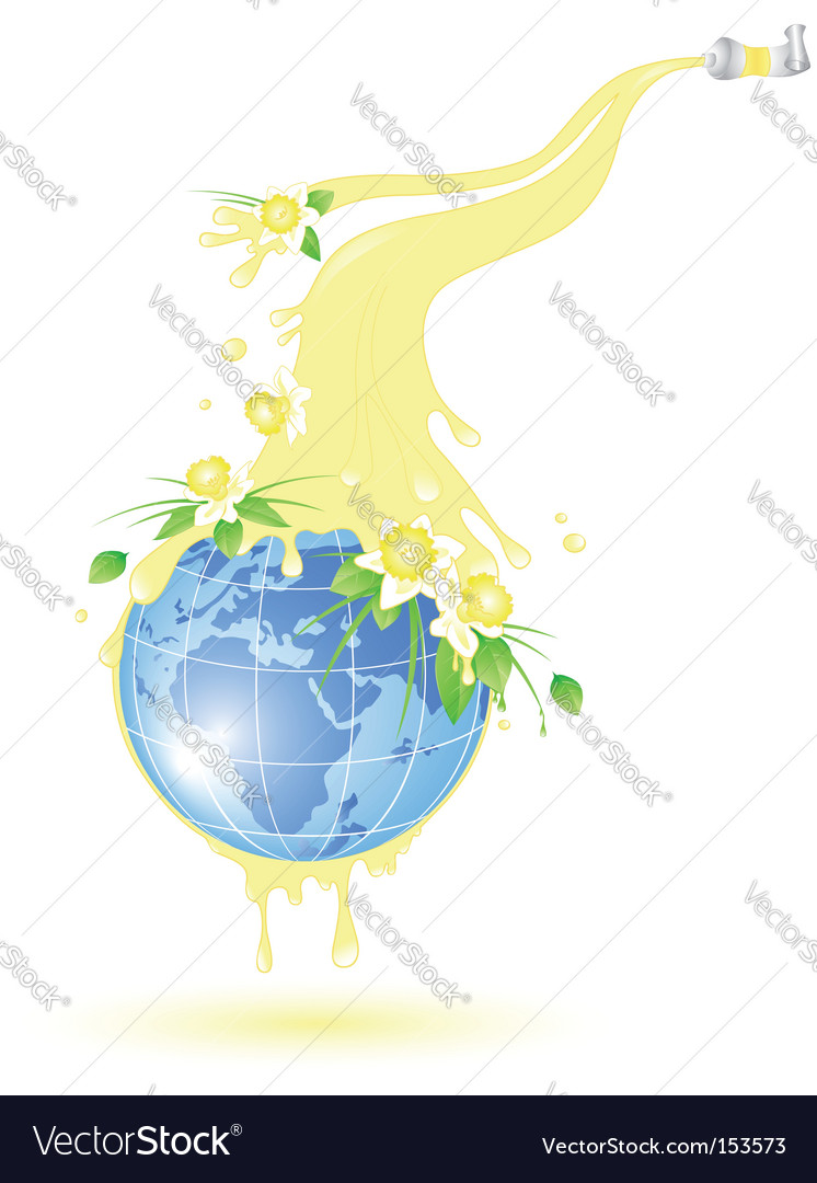 Flowering planet vector | Price: 3 Credit (USD $3)