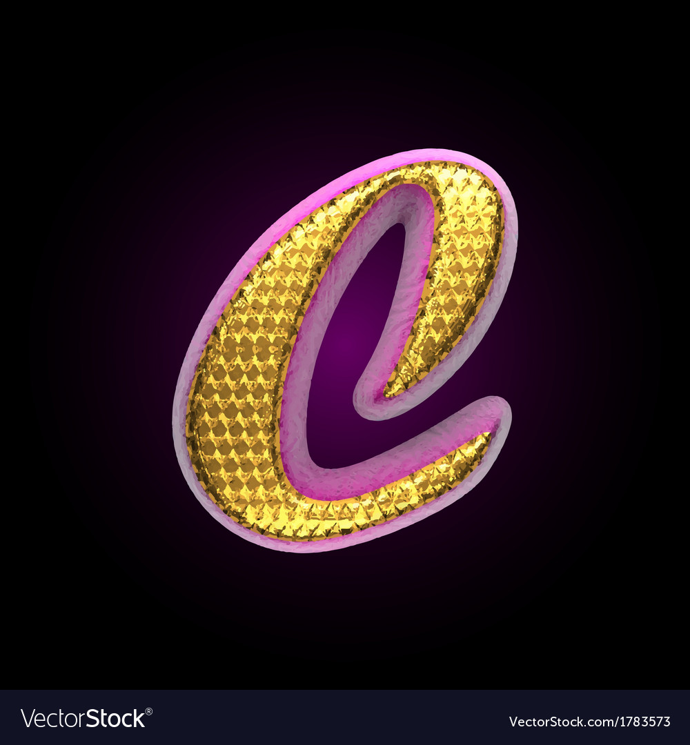Golden and pink letter c vector | Price: 1 Credit (USD $1)