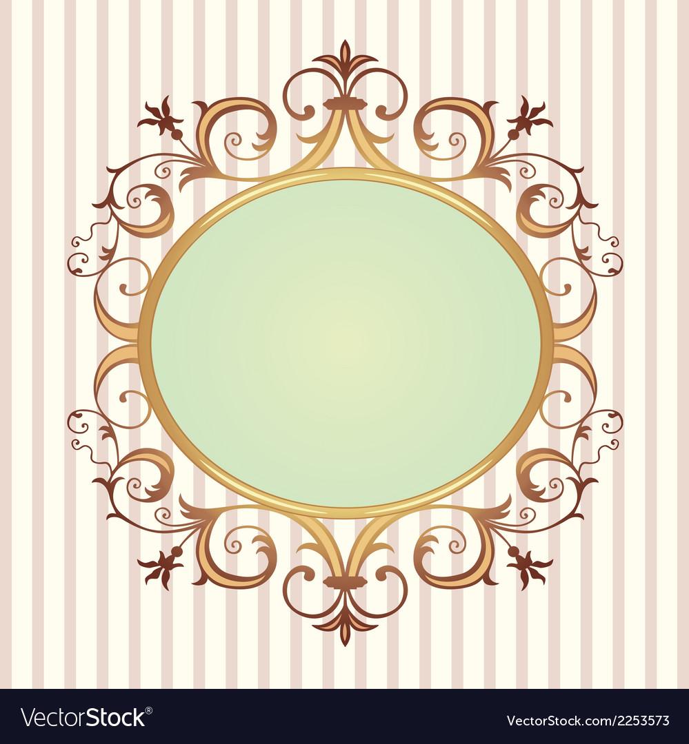 Golden floral frame vector | Price: 1 Credit (USD $1)