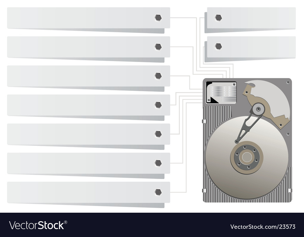 Hard drive vector | Price: 1 Credit (USD $1)