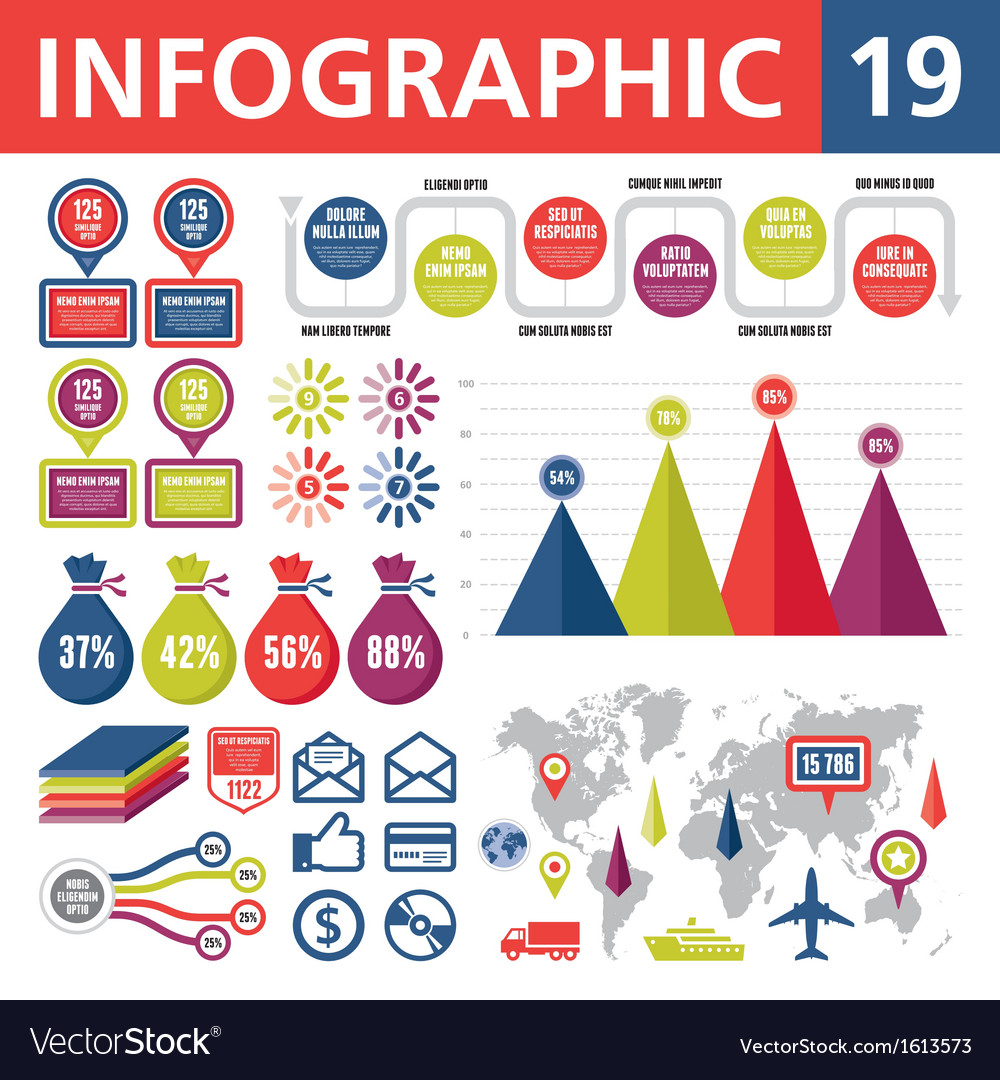 Infographic elements 19 vector