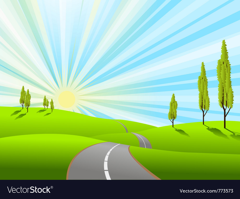 Landscape field vector | Price: 1 Credit (USD $1)
