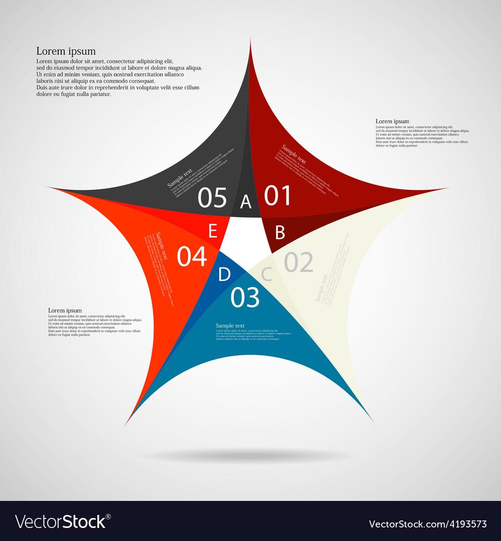 Pentagon star on light background vector   Price: 1 Credit (USD $1)