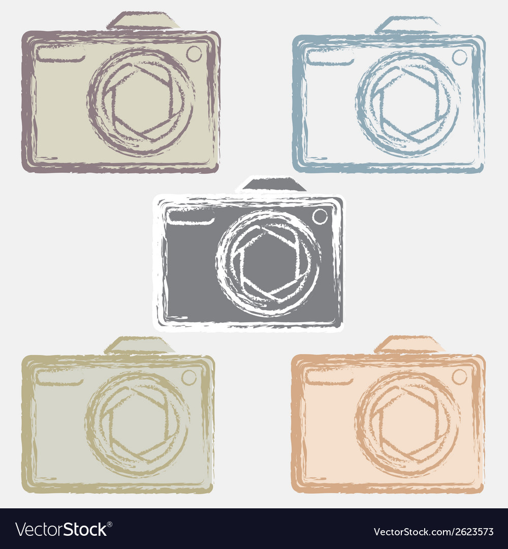 Photo camera silhouette vector | Price: 1 Credit (USD $1)