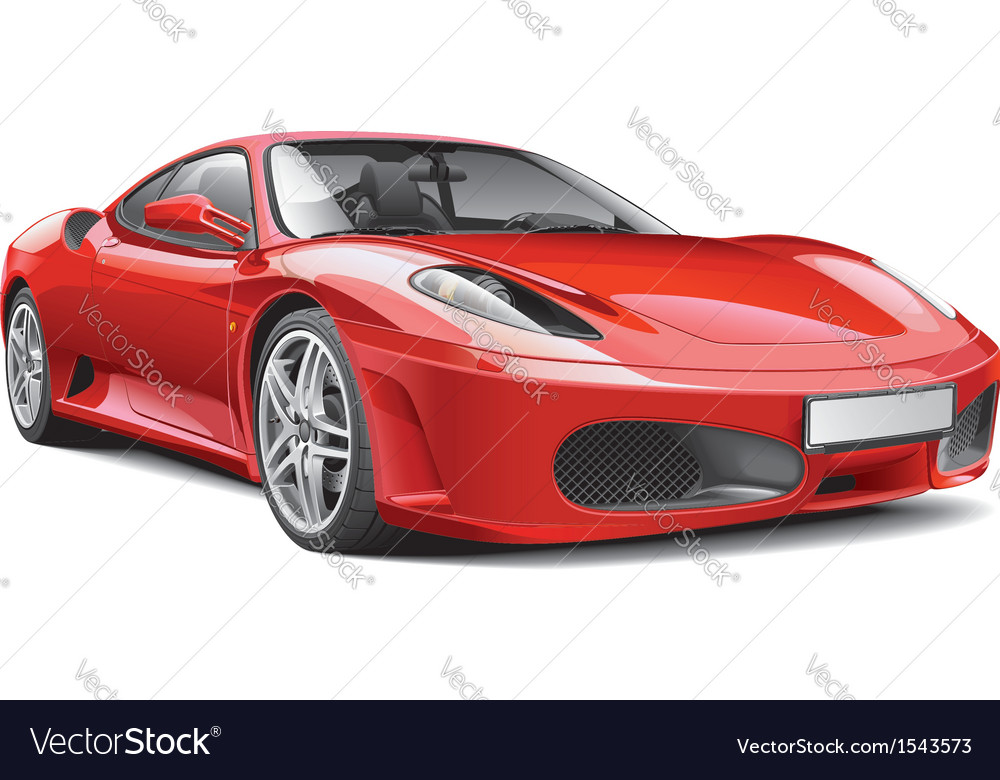 Red italian supercar vector | Price: 5 Credit (USD $5)