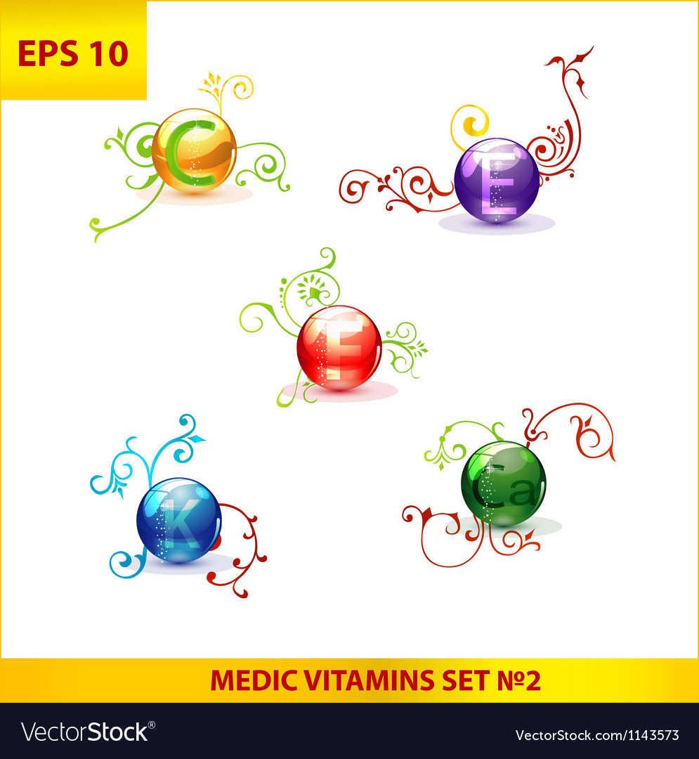 Shiny and colored medic vitamin capsules pills set vector | Price: 1 Credit (USD $1)