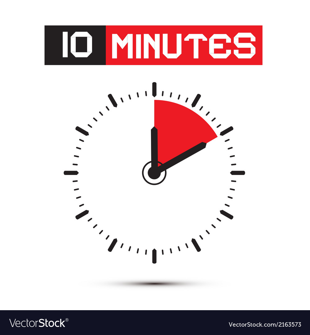 Ten minutes stop watch  clock vector
