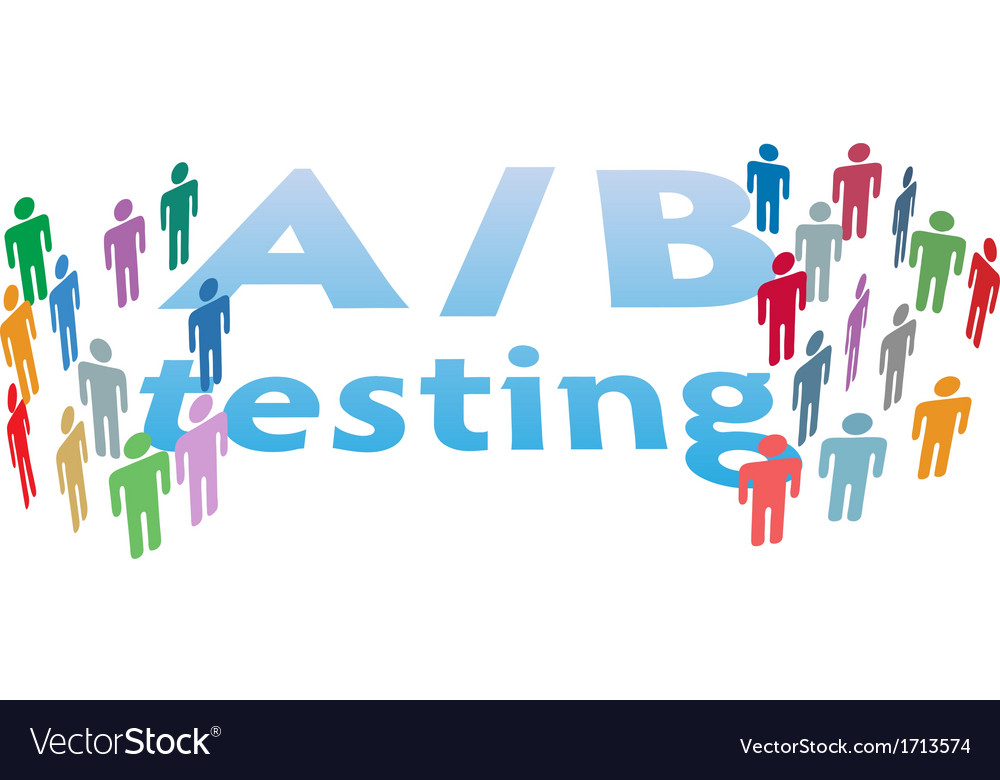 A b choice test marketing people vector | Price: 1 Credit (USD $1)