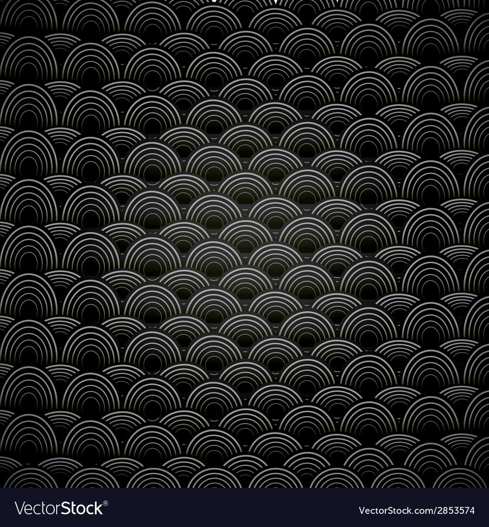 Abstract seamless black and white background with vector
