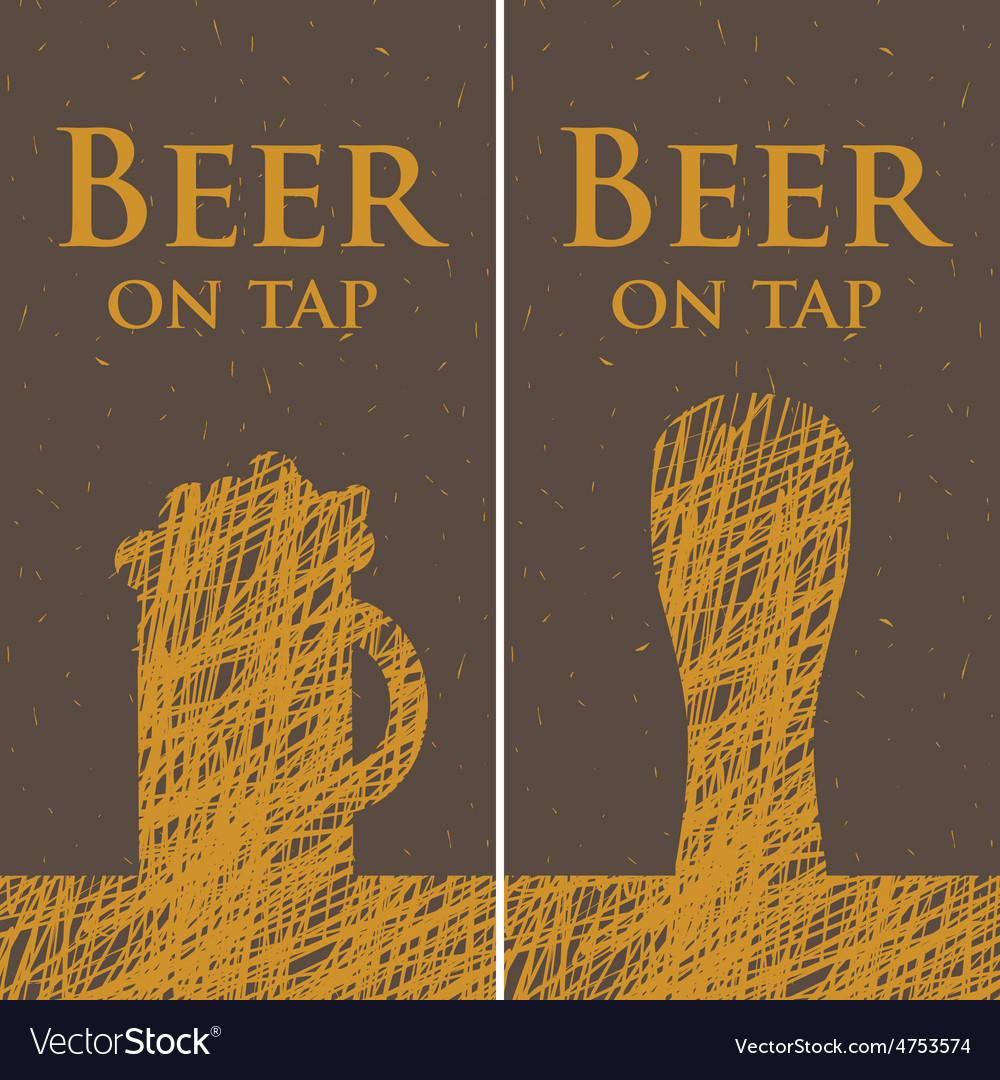 Beer on tap vector | Price: 1 Credit (USD $1)