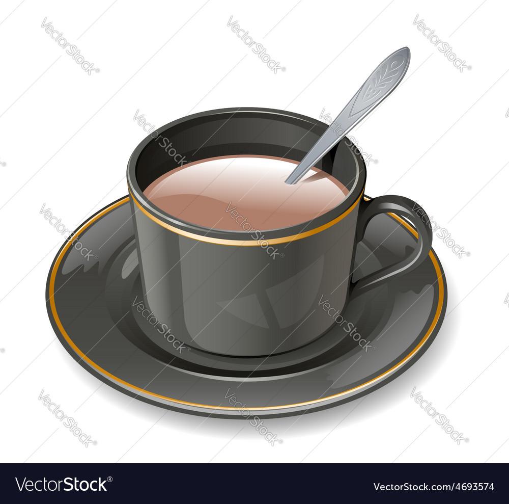Black cup vector | Price: 1 Credit (USD $1)