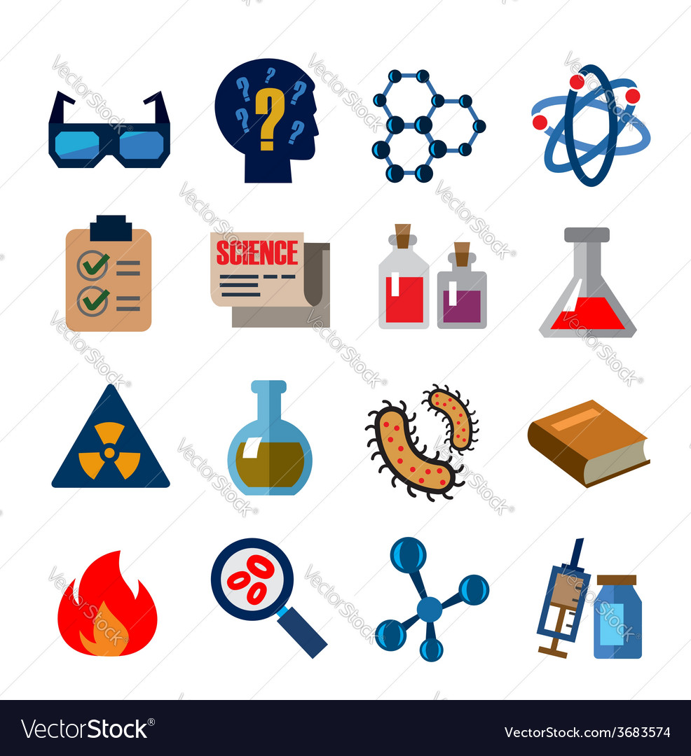 Cience icons vector | Price: 1 Credit (USD $1)