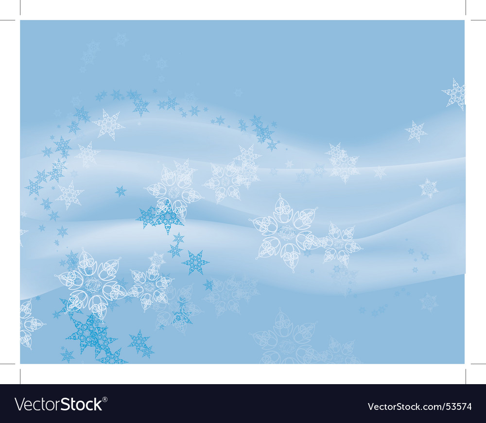 Flurry of snowflakes on blue vector | Price: 1 Credit (USD $1)