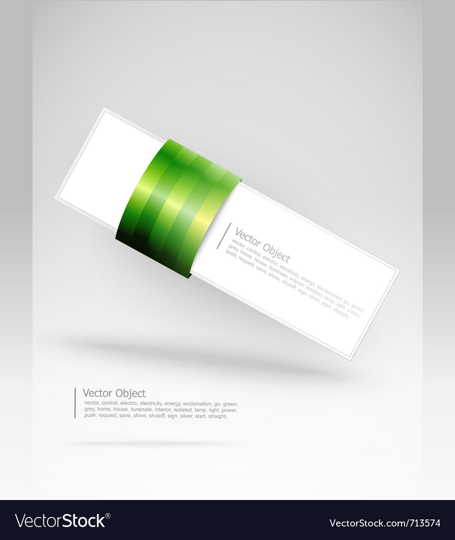 Green stripe banner vector | Price: 1 Credit (USD $1)