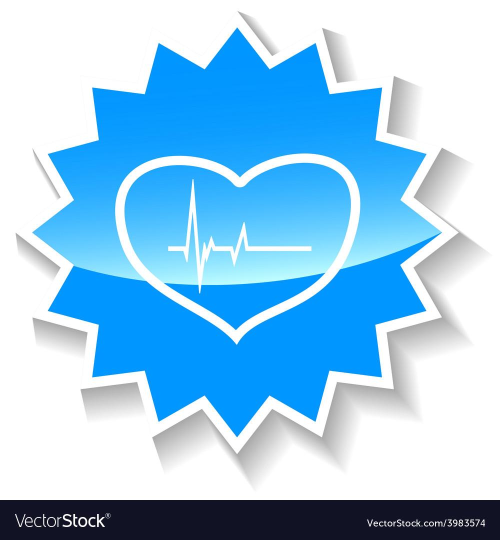 Heartbeat blue icon vector | Price: 1 Credit (USD $1)