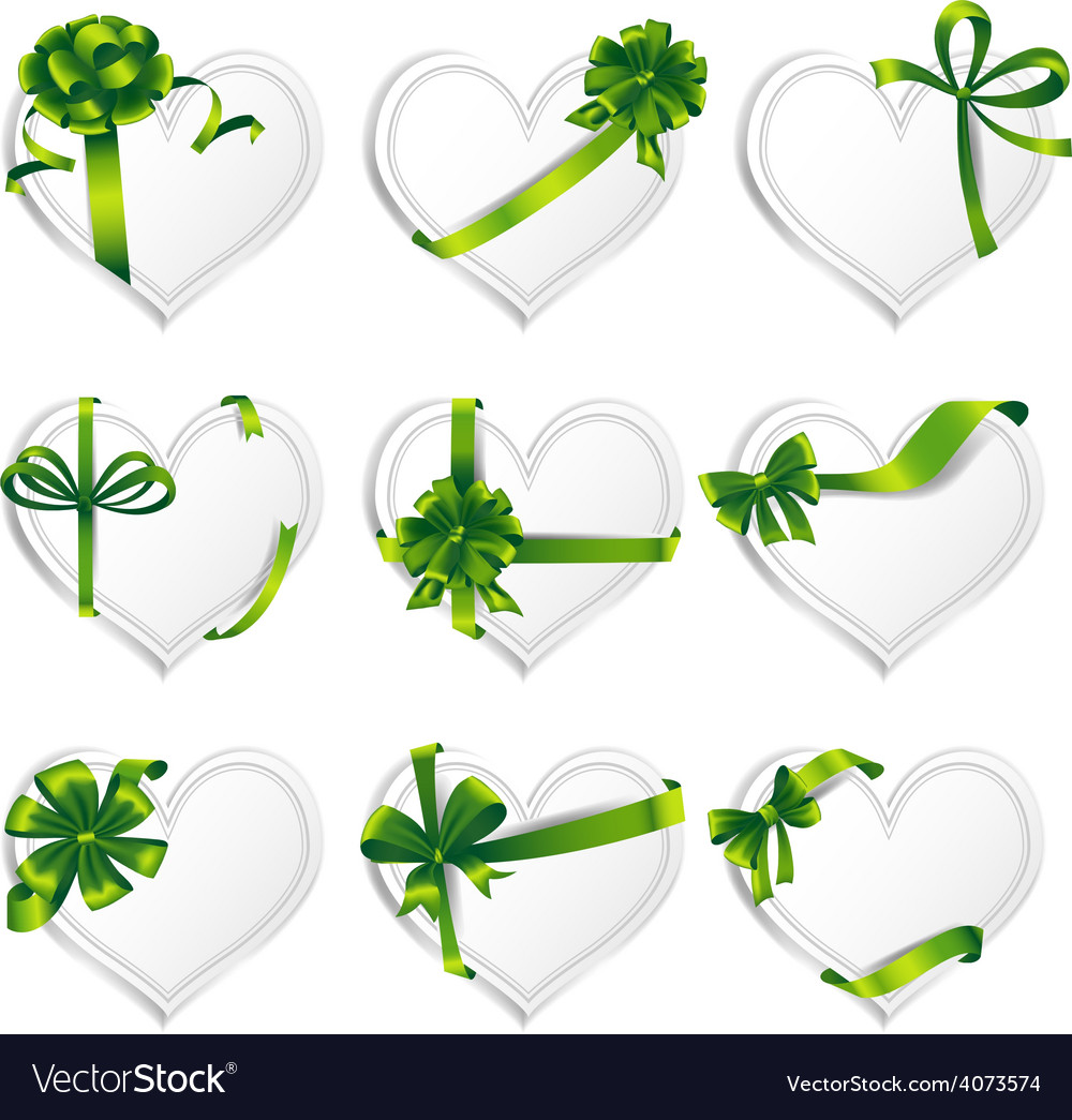 Hearts set for wedding and valentine design vector | Price: 3 Credit (USD $3)