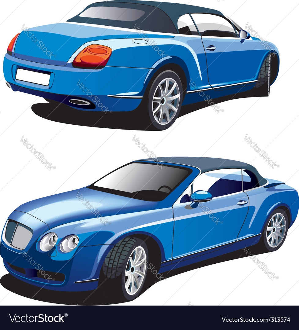 Luxury blue car vector | Price: 3 Credit (USD $3)