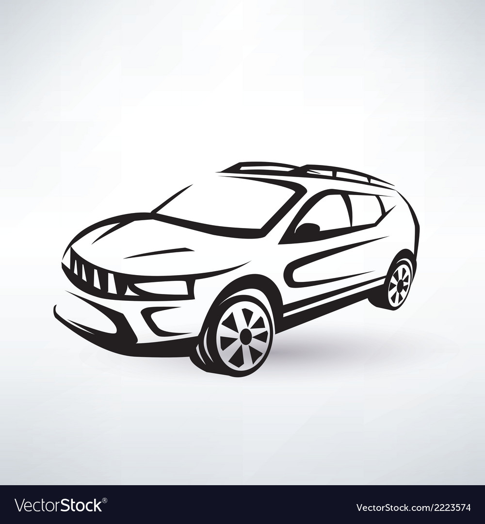 Modern crossover offroader sport car vector | Price: 1 Credit (USD $1)
