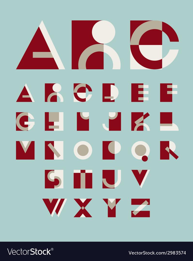 Original geometric alphabet vector | Price: 1 Credit (USD $1)