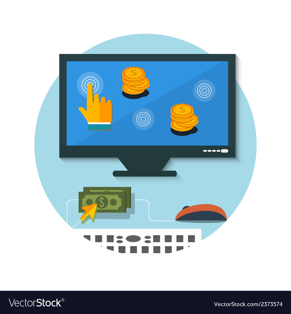 Pay per click internet advertising model vector | Price: 1 Credit (USD $1)