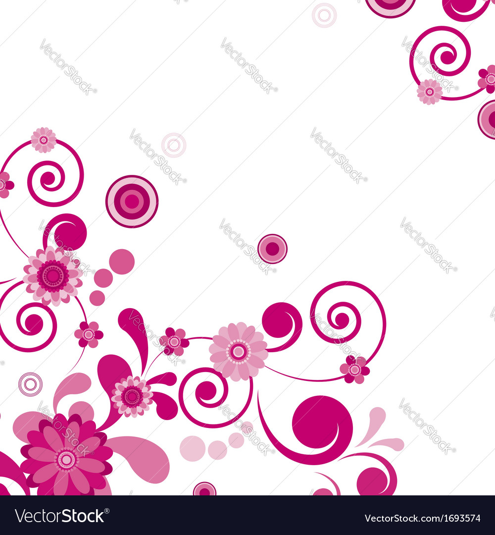 Pink flower floral background to see similar vector | Price: 1 Credit (USD $1)