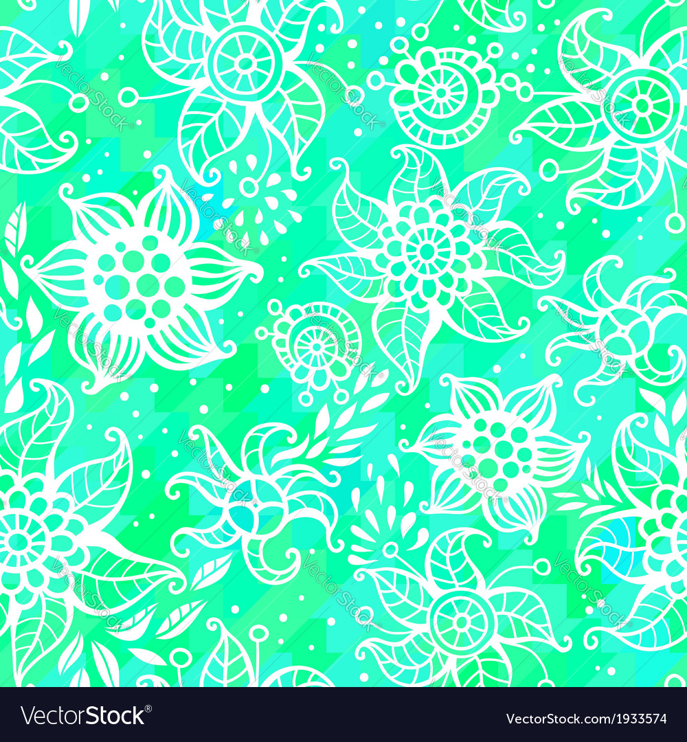 Seamless abstract pattern with flowers vector | Price: 1 Credit (USD $1)