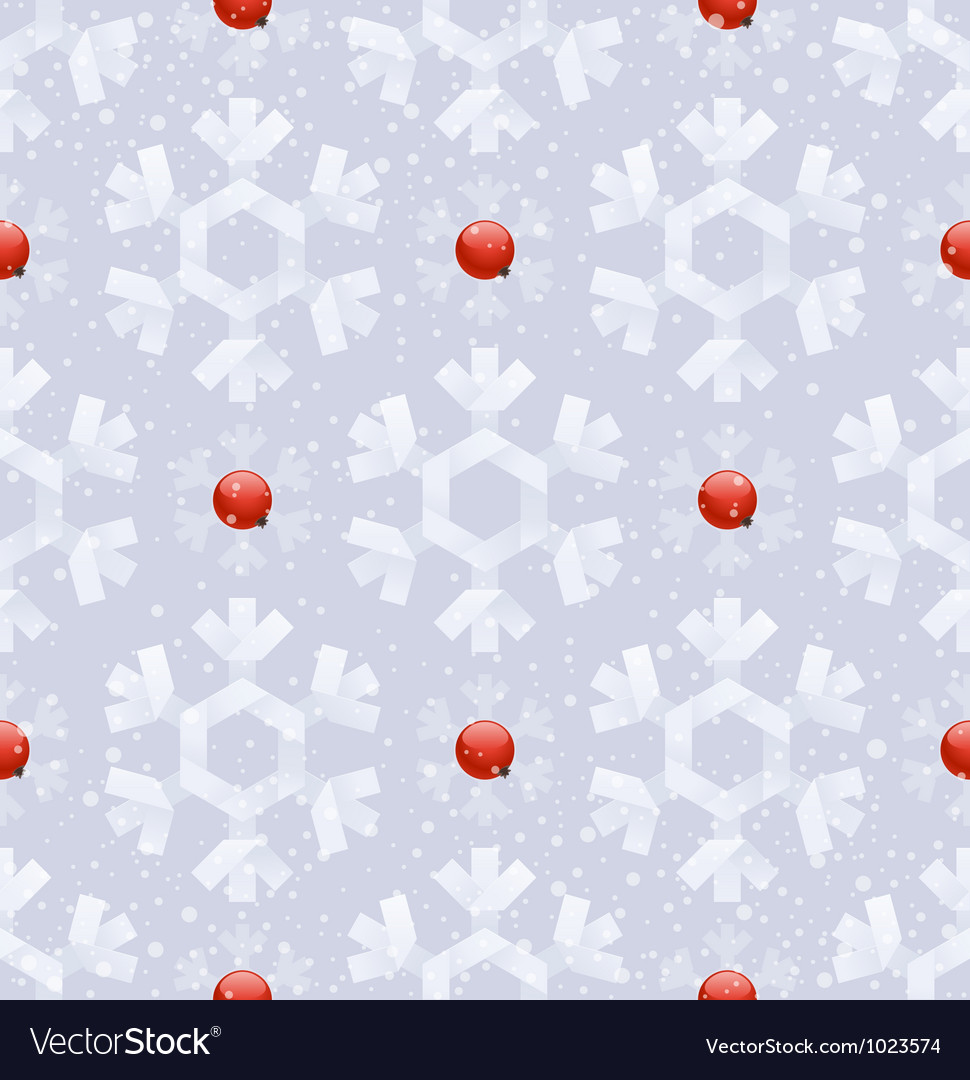 Seamless background - paper snowflakes vector | Price: 1 Credit (USD $1)
