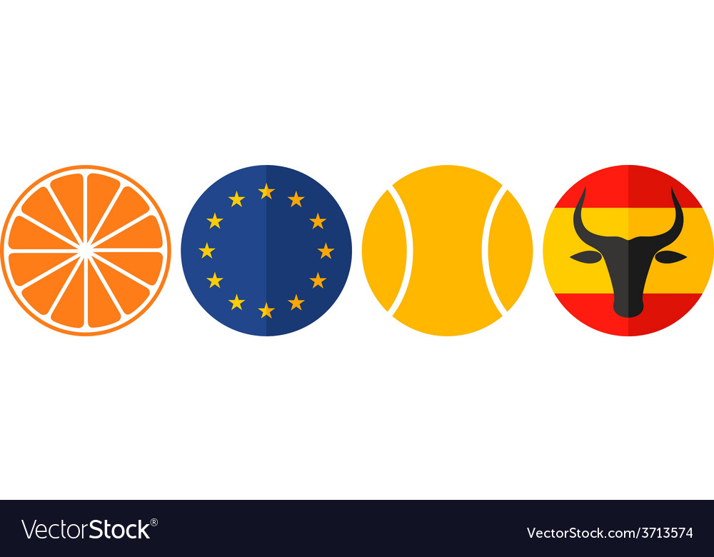 Spain icon set vector | Price: 1 Credit (USD $1)
