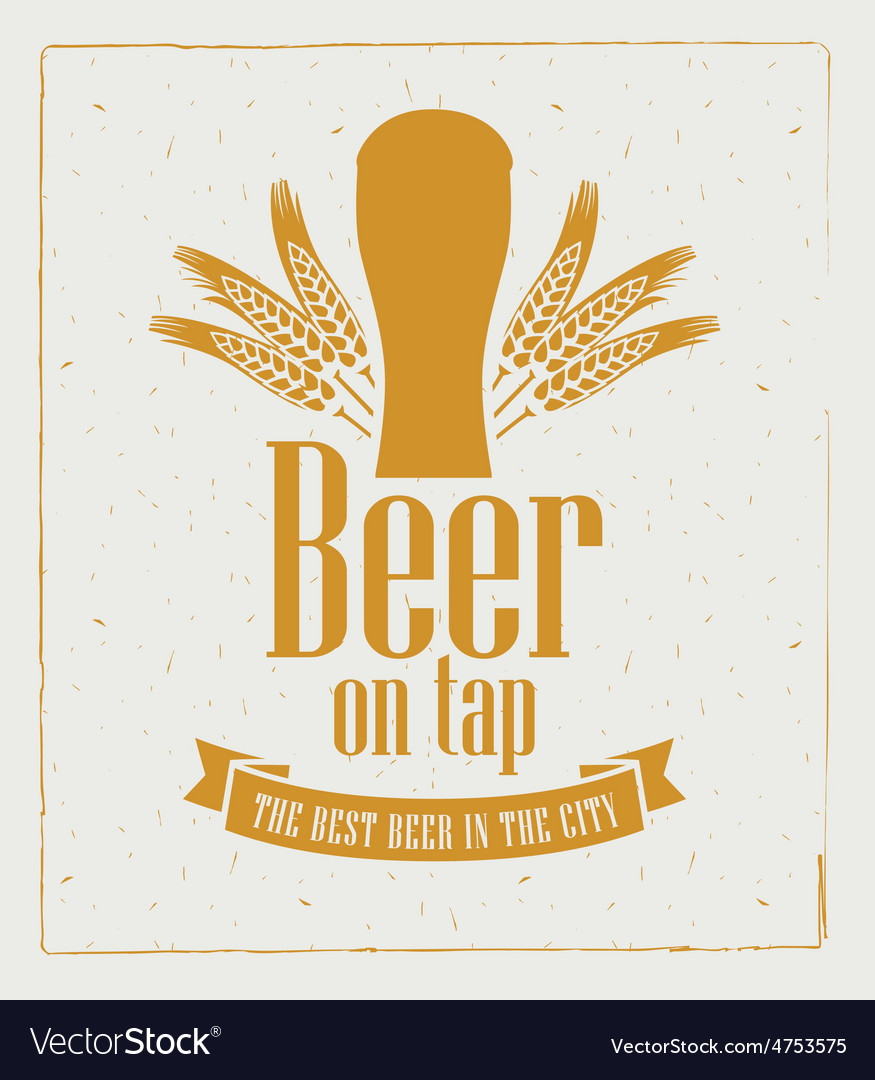 Beer on tap 007 vector | Price: 1 Credit (USD $1)