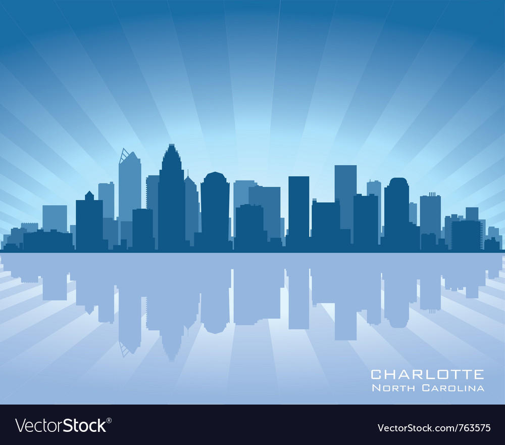 Charlotte north carolina skyline vector | Price: 1 Credit (USD $1)