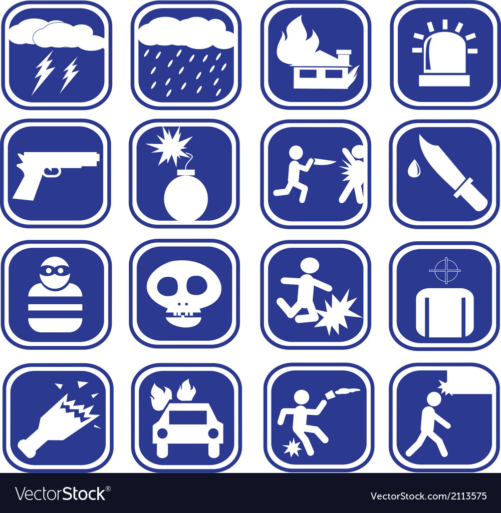Icon of a violent set vector | Price: 1 Credit (USD $1)