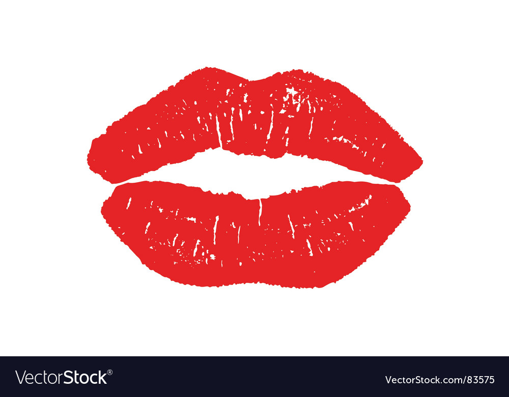 Illustration of lips imprint vector | Price: 1 Credit (USD $1)