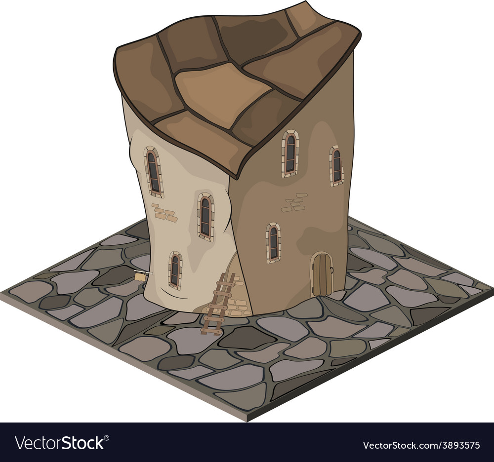 Video game object an old house vector | Price: 1 Credit (USD $1)