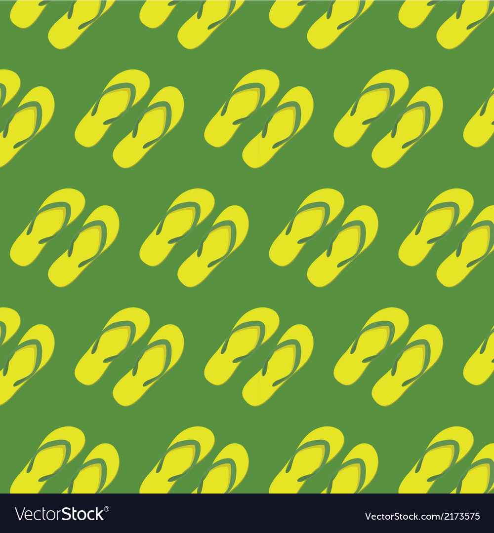 Yellow slippers seamless pattern vector | Price: 1 Credit (USD $1)