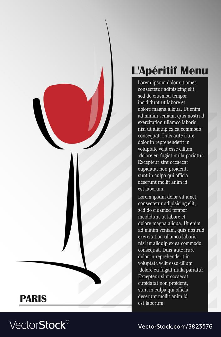 Aperitif menu vector | Price: 1 Credit (USD $1)