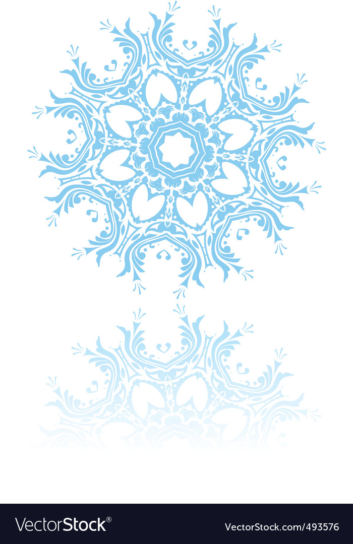 Beautiful snowflake vector | Price: 1 Credit (USD $1)