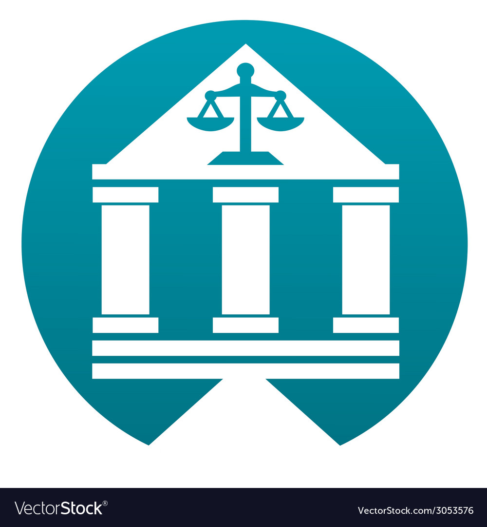 Court building sign vector   Price: 1 Credit (USD $1)