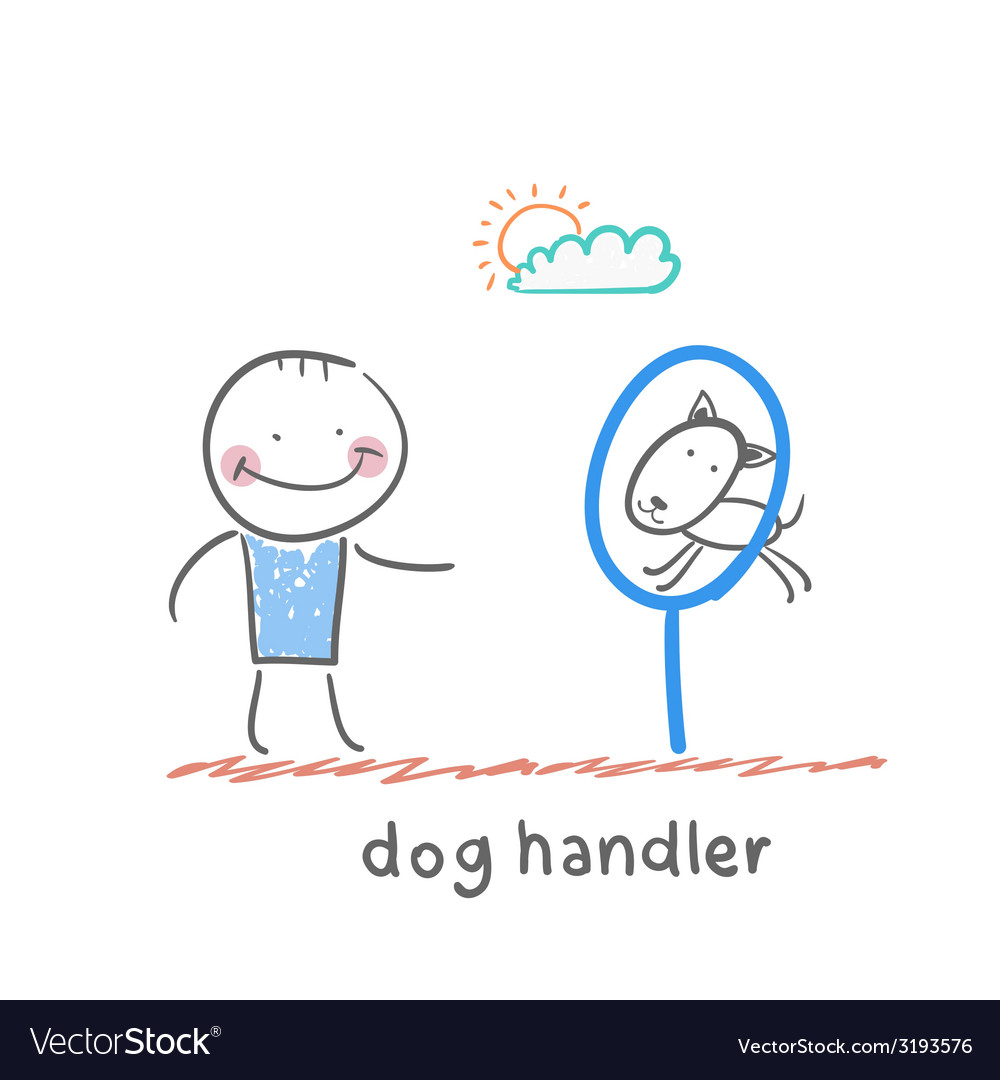 Dog handler vector | Price: 1 Credit (USD $1)