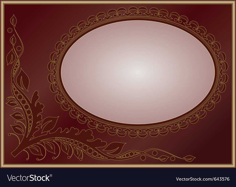 Floral golden frame vector | Price: 1 Credit (USD $1)