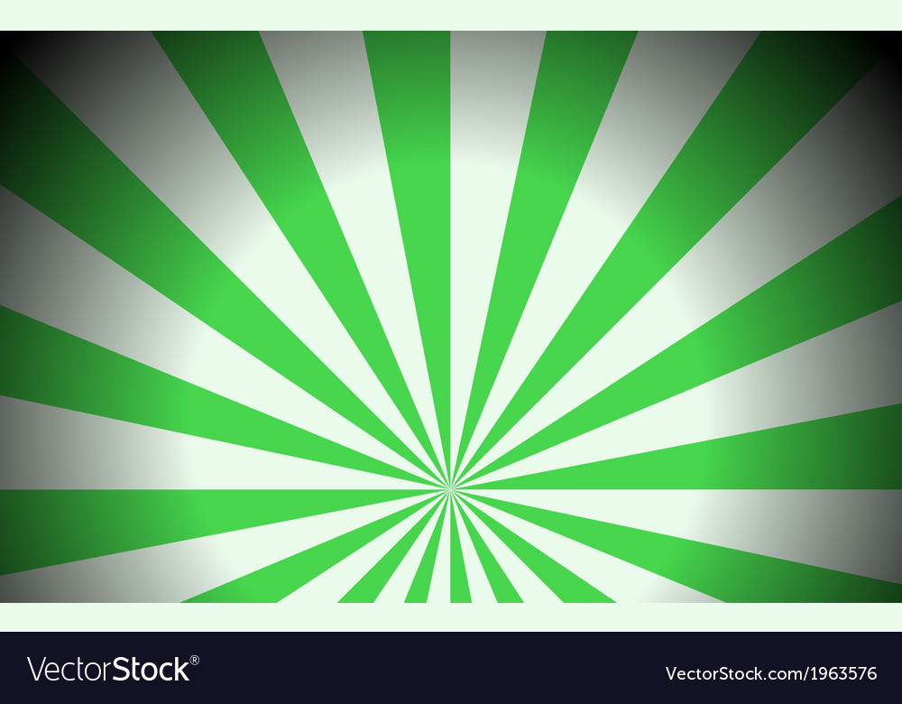 Green colored rays vector | Price: 1 Credit (USD $1)