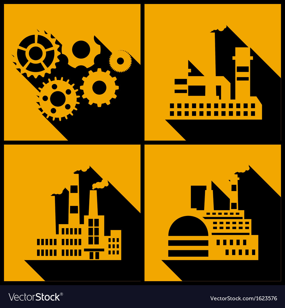 Industrial factory buildings background vector   Price: 1 Credit (USD $1)