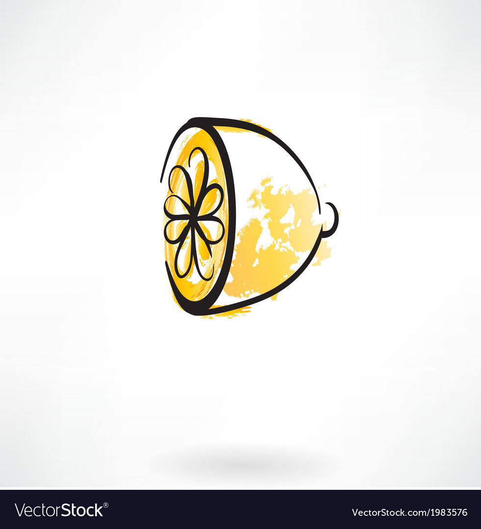 Lemon grunge icon vector | Price: 1 Credit (USD $1)