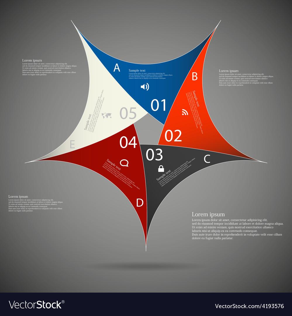 Pentagon star on dark background vector   Price: 1 Credit (USD $1)