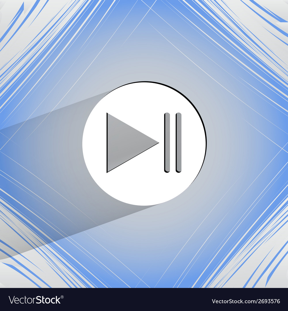 Play button web icon on a flat geometric abstract vector | Price: 1 Credit (USD $1)