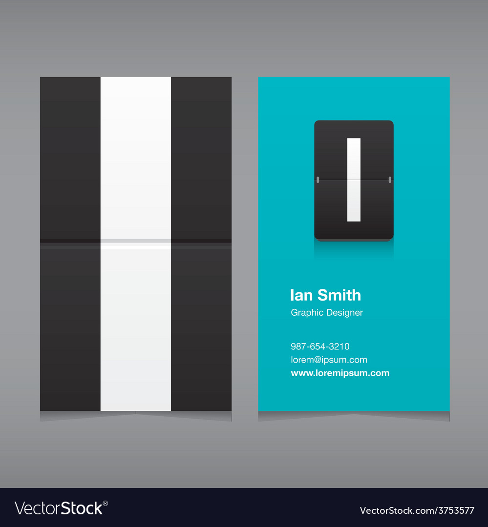Business card letter i vector | Price: 1 Credit (USD $1)