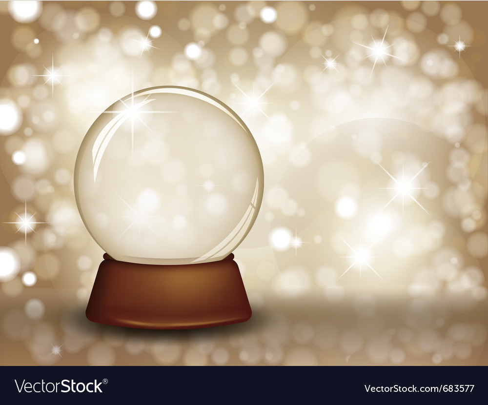 Christmas snow globe vector | Price: 1 Credit (USD $1)