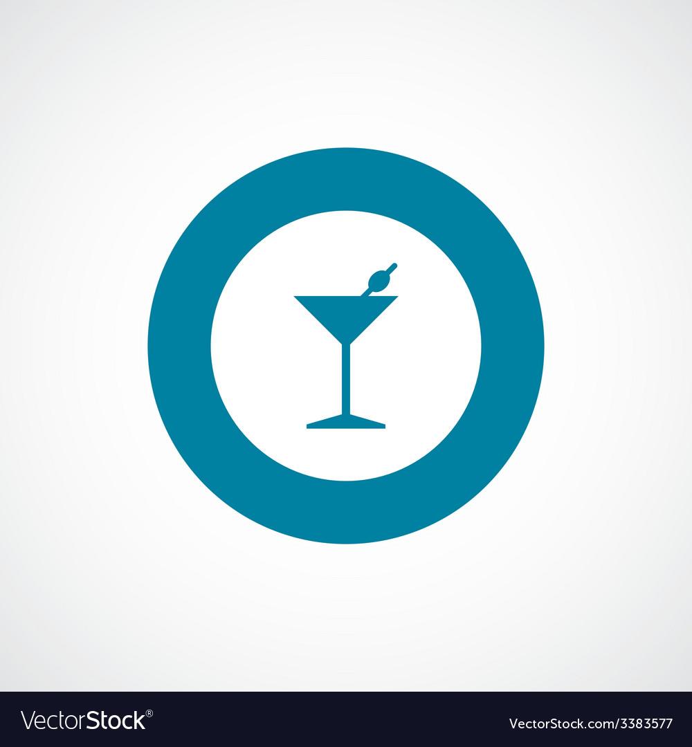 Cocktail bold blue border circle icon vector | Price: 1 Credit (USD $1)