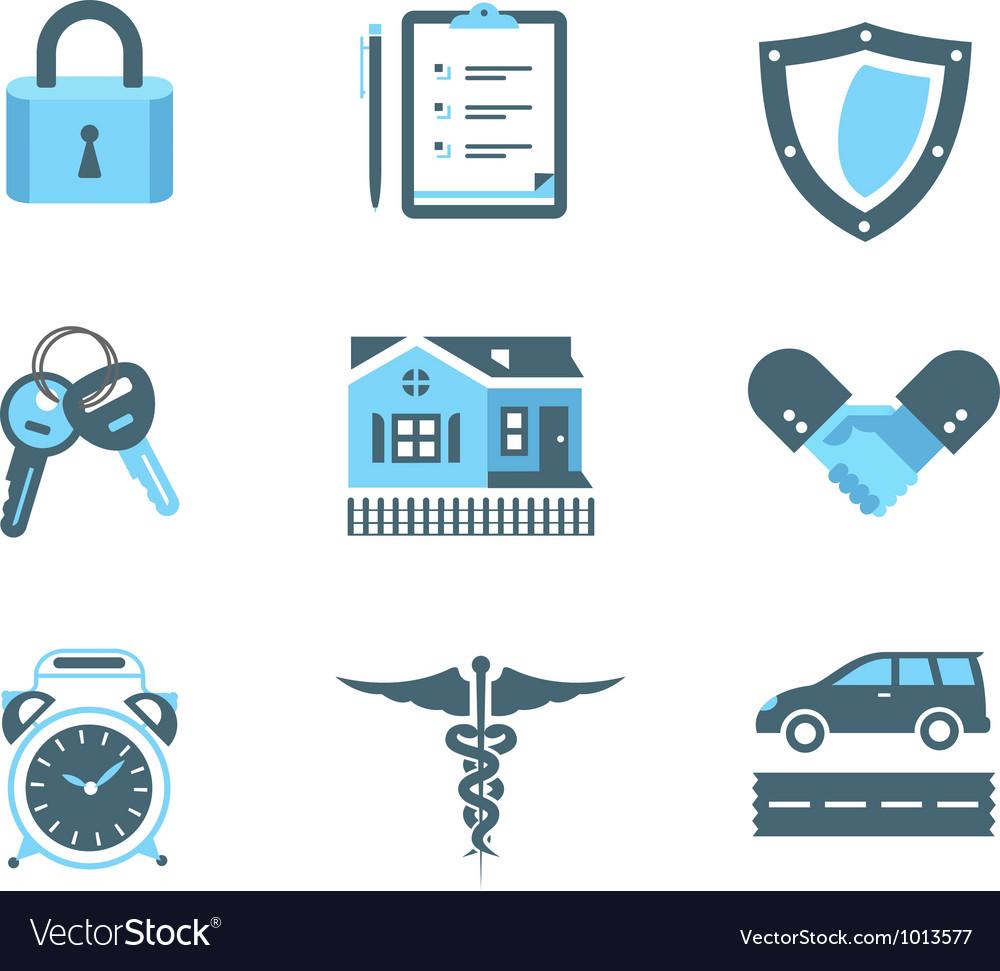 Handshake insurance icons vector | Price: 1 Credit (USD $1)