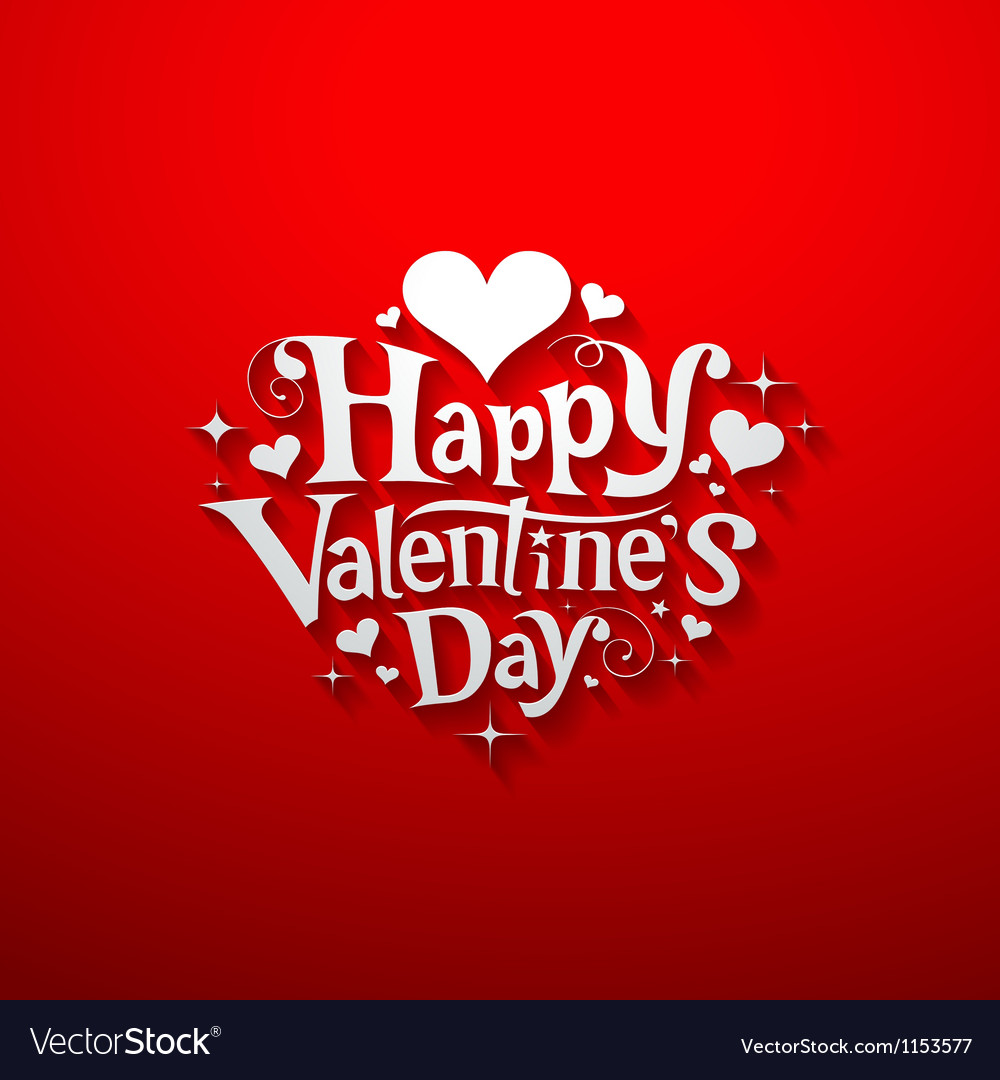 Happy valentine day message banner design vector | Price: 1 Credit (USD $1)