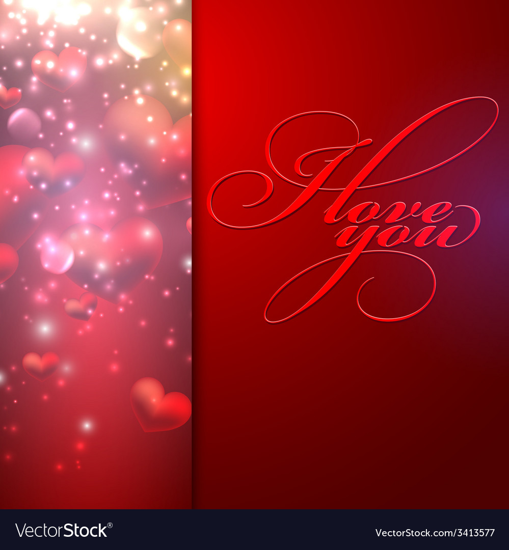 I love you holiday background with hearts vector | Price: 1 Credit (USD $1)